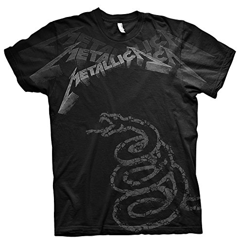 Metallica Black Album James Hetfield Rock Oficial Camiseta para Hombre (Medium)