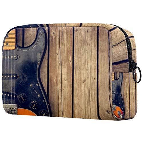 Bolsa de cosméticos para mujer, guitarras eléctricas, tablas de madera, bolsas de...