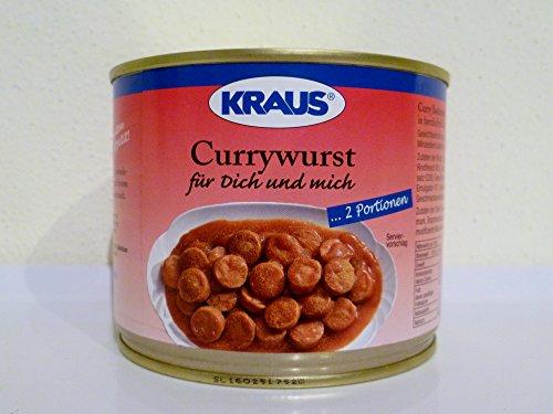 2 Portionen Currywurst in Curry-Sauce vom Metzger keine Industrieware Konserven