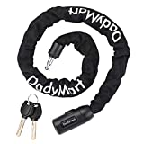 DadyMart Bike Chain Lock, 6mm Thick Security Chain Lock Bike Lock Heavy Duty Anti Theft Bike Locks with Keys, Bicycle Chain Lock for Motorcycle, Gate, Fence