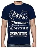 Photo de Green Turtle T-Shirts Fêtes des pères Papa l'homme Le Mythe la légende T-Shirt Homme X-Large Marine