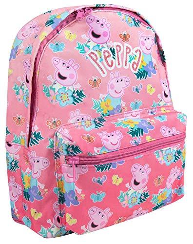 Peppa Pig All Over Imprimer Sac à dos Rose Mignon Enfants avec Sangles Réglables