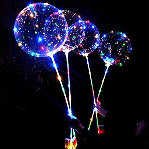 Ketuan - Globo de luz LED Reutilizable y Luminoso, Redondo, Transparente, para decoración de Fiestas, Bodas, Salones, Interiores y Exteriores, Púrpura