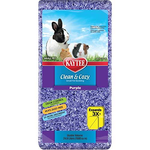 Kaytee 894658 Clean & Cozy Streu für kleine Haustiere / Nager / Hamster, 99.9 % staubfrei, Geruchskontrolle - 24.6 Liter, lila