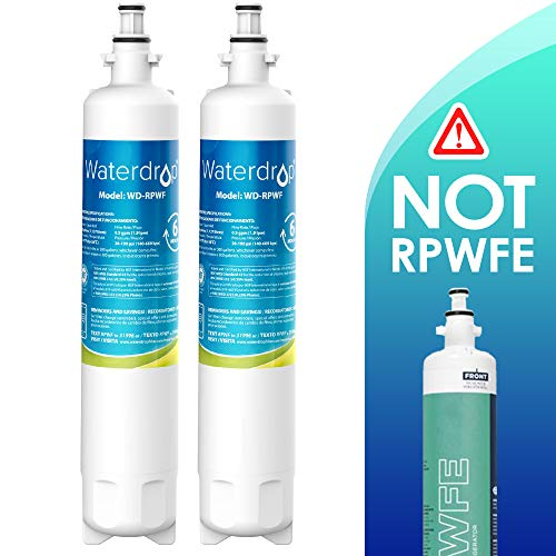 Waterdrop Refrigerator Water Filter, Compatible with GE RPWF (Not RPWFE), Pack of 2 (Packing May Vary)