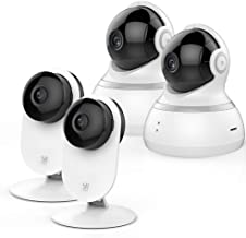 YI AI-Powered Indoor Security Camera Bundle Set, 2.4G Wi-Fi Smart Home Surveillance System with Human Detection, App - 108...
