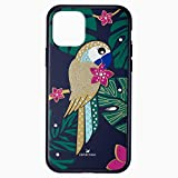 Swarovski Funda para Smartphone con PROTECCIÓN RÍGIDA Tropical Parrot, iPhone 11 Pro, Colores Oscuros - 5534015