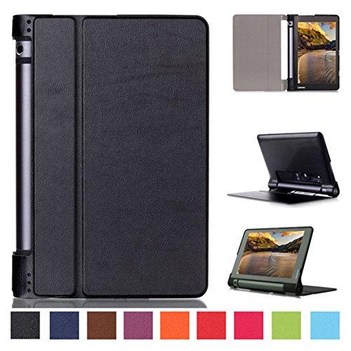 Smart Cover per Lenovo YOGA Tab 3 10 YT3-X50F 10.1 Pollice Case Stand Slim Flip Book Cover Folio Skin X50L (Nero) NUOVO