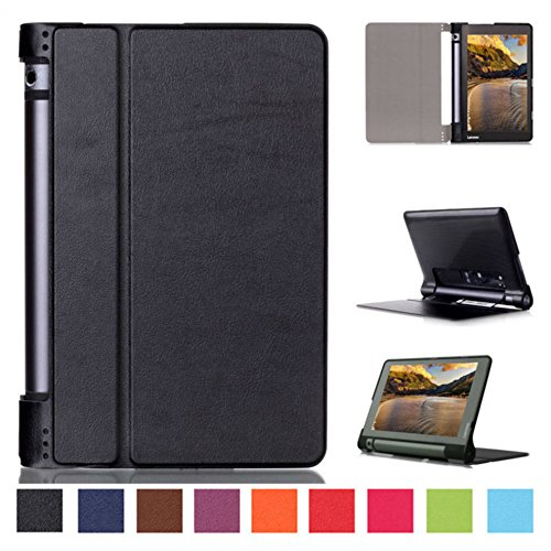 Smart Cover para Lenovo YOGA Tab 3 10 YT3-X50F 10.1 Pulgadas Case Stand Slim Flip Book Cover Folio Skin X50L (Negro) NUEVO