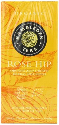 HAMBLEDEN HERBS Organic Rose Hip Tea Bags 55g (PACK OF 6)