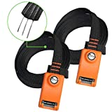 Lovinouse 2021 Upgraded 2 Pack Lockable Tie Down Strap, with 3 Stainless Steel Cables, for Lashing Locking Kayak, Bike, Surfboard, 10 Feet Each (10 FT Each)