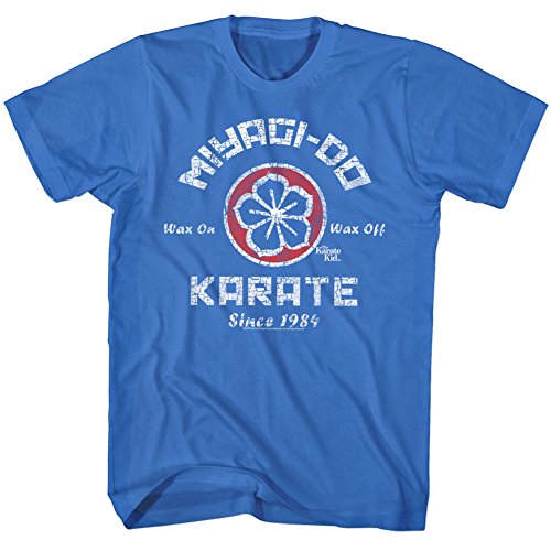 AMC Karate Kid Miyagi-Do Karate Logo Distressed Royal Blue Adult T-Shirt Tee 3X