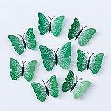 LZHLMCL Vinilos Decorativos Para El Hogar 50 Uds Mariposa Verde 3D Pegatina De Pared De Mariposa Tridimensional Accesorios De Mariposa Decorativos Pegatina De Pared Para Manualidades 10Cm