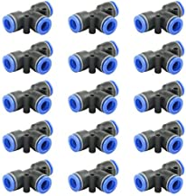 WMYCONGCONG 15 PCS Plastic Tee Union Push to Connector Fitting Tube Connect Quick Connect Fittings 10mm or 3/8'' (10mm)