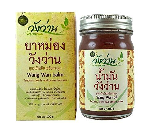 Wang Wan Balm Tendons Joints&Bones Formula Thai Herbal Cream Thai Massage 100g(3.5 Oz.)