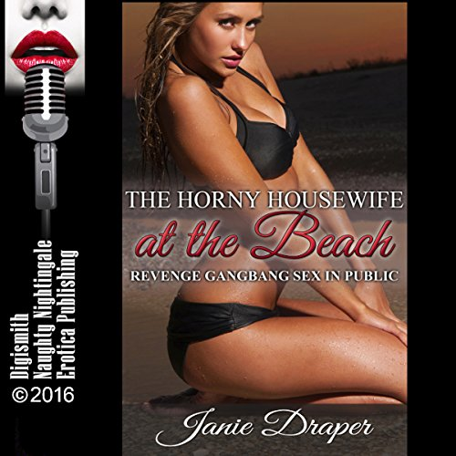 The Horny Housewife at the Beach audiobook cover art