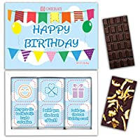 "DA CHOCOLATE キャンディーお土産HAPPY BIRTHDAYチョコレートセット1箱7.2x5.2 ""3オンス各チョコレート4x2"" (DARK Orange Cedar Mint)"