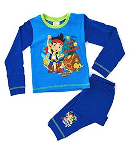 Disney Jake Neverland Piraten Jungen Pyjama Long Length Alter 12-18 Monate