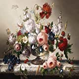 Bodegón clásico Cartel e impresión Mural Arte Lienzo Pintura Flores Sala de estar Decoración Pintura 30x45cm