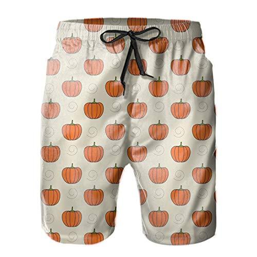 Men's Quick Dry Swim Trunks Best Pumpkins Bathing Suit Beach Shorts