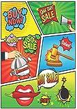 Blanko Comic Buch zum serberzeichnen: 100 Seiten mit leeren Comic Rastern zum serber zeichnen - hochwertiges dickes Zeichenpapier - Cartoons malen (German Edition)