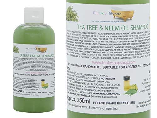 Funky Soap 1 Flasche Liquid Teebaum & Neemöl Shampoo 100% SLS Frei 250ml