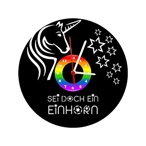 Reloj infantil de pared, diseño de unicornio, estrella, reloj de disco de...