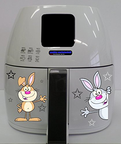 Stickers geschikt voor Philips Airfryer XL hazen