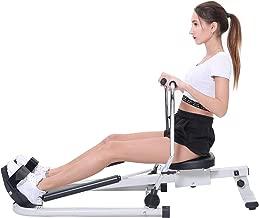 ISE Máquina de Remo Hidráulico Plegable para Fitness, Rowing Machine Rower Indoor de Gimnasio en Casa Hogar con Pantalla LED para Entrenamiento Cardiovascular, Ajutable Resistencia, Máx.120kg,SY-15001