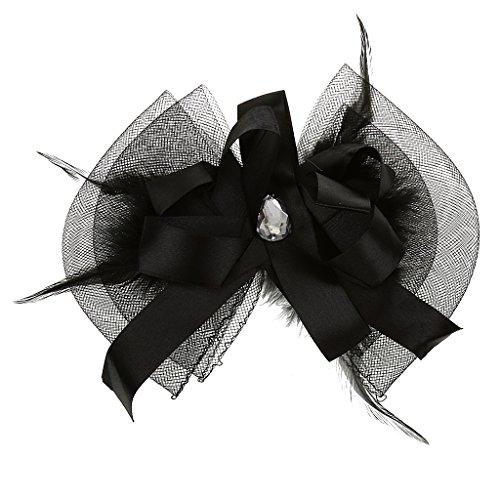 Bonarty Pince à Cheveux Fascinator Party Veil Night Out Out Races De Bal Noir