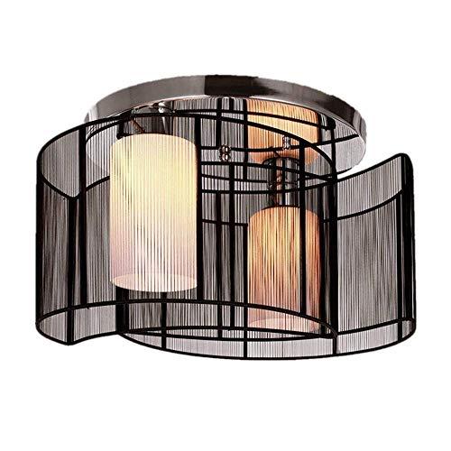 Soarl-A plafondlamp, E27-peer led-lichtbron plafondlamp, modern minimalistisch geschikt voor woonkamer, eetkamer, slaapkamer, kinderkamer, hotelkamer, enz. (zwart) bescherm de ogen