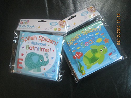 Pack of 2 Baby Waterproof Bath Time Book Educational Learning Sea Theme 6months+ by First Steps