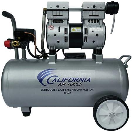 California Air Tools 8010A Aluminum Tank Air Compressor | Ultra Quiet, Oil-Free, 1.0 hp, 8 gal