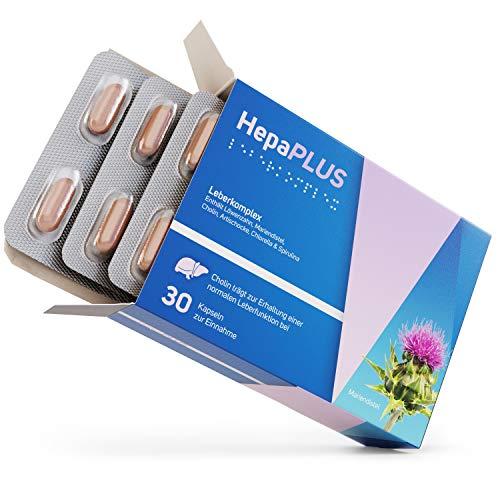 HepaPlus - Ausgewählter Leberkomplex mit Spirulina, Chlorella, Löwenzahn & Artischocke   100% vegan   Made in Germany