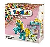 PlayMais Mosaic Dream Pony Kreativ-Set zum Basteln für Kinder ab 5 Jahren | Über 2.300 Stück & 6 Mosaik Klebebilder mit süßen Ponys | Fördert Kreativität & Feinmotorik | Natürliches Spielzeug