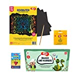 COMBO CONTENTS: This combo pack contains Snakes and Manners Board Game, Simon Says Card Game, Doodletoi Magical Art Sheets (3 sheets in a pack) and Topystoi aka Lattu wooden spinner SNAKES AND MANNERS: Play just like regular snakes and manners but yo...