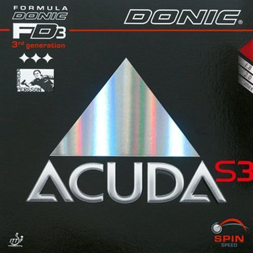 Donic Belag Acuda S3, schwarz, 1.8 mm by DONIC