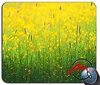 ZMvise花フィールド黄色パターンファッション漫画マウスパッドマットカスタム四角形ゲームマウスパッド