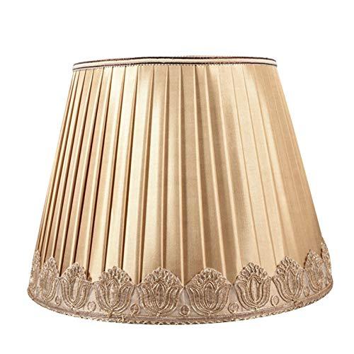 TRITTHOCKER Pantalla de la lámpara de Mesa, diámetro Superior 26 cm; Diámetro Inferior 40 cm; Altura Oblicua 30 cm, Tela Plisada