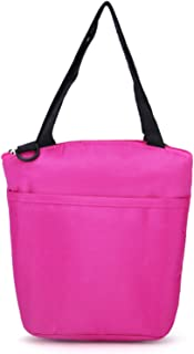 Lunch Bag - Insulated Reusable Lunch Tote Organizer Bag/Capacity Lunch Box Foldable Lunch Tote Cooler with Thermal Lining (Color : Purple)