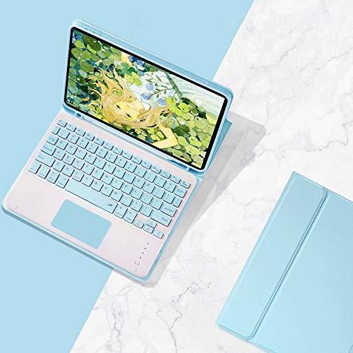 人気 iPad 8 iPad 10.2キーボードカバー タッチパッド付き 第8世代/第7世代 Apple Pencil収納可能 ワイヤレスBluetooth キーボード 分離式 超軽量 手帳型 可愛い お洒落 ペンシル充電対応 脱着式 キーボード スタンド