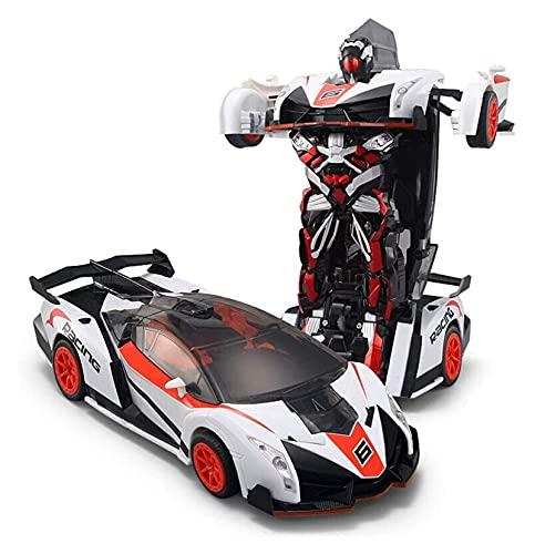 MNYHJDS Coche Remoto deformable 1:12 Escala RC Remoto 4WD Vehículos de Deriva One Touch Transform Intelligence Toy Electric Sports Race Car Coche Modelo de cumpleaños Infantil k