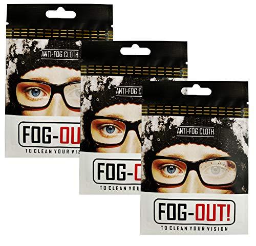 AFXMATE Anti-Beschlag-Tücher, Anti-Beschlag-Brillentuch für Brillen und Brillen (3 Stück)