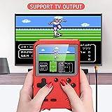 Console de Jeu Portable Mini Console de Jeu Rétro de Poche Construit en NES FC 400 Classique Vieux Jeux Écran Couleur de 3 Pouces avec Connecteur TV Cadeau pour Enfant Adulte