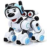 Costway Chien Robot Télécommandé, Jouet Interactif pour Enfants, Animaux Electroniques avec Chant, Danse, Clignotant, Fonction de Tir, pour Garçons et Filles, pour Les Enfants