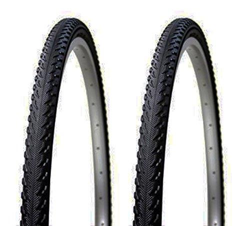 """Onogal 2X Cubierta Neumatico Antipinchazos Tecnología Prbb Para Bicicleta Hibrida Mixta Mtb y Trekking 26\"""" X 1.90 3707"""