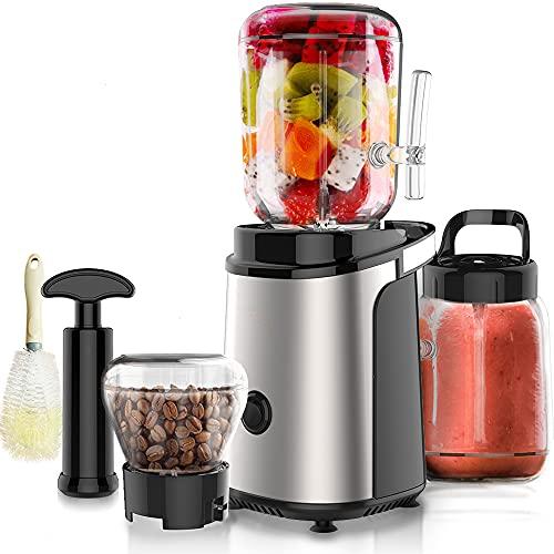 Estrattore di succo, macchine centrifuga, facile da pulire, estrattore di succo in acciaio inox ed estrattore di verdure, macchine ad alta capacità, senza BPA