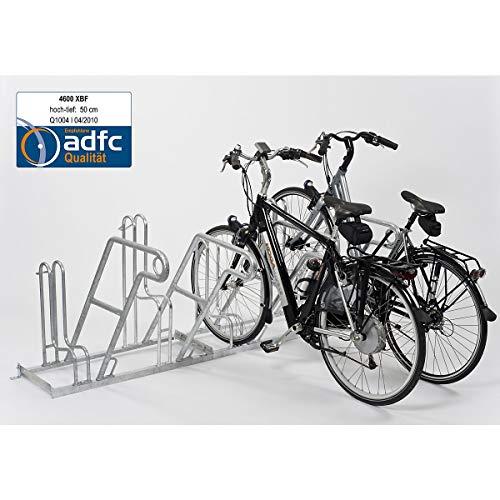 Fahrradständer - Anlehnparker 4604 XBF einseitig - 4 Einstellplätze - Radabstand 500 mm