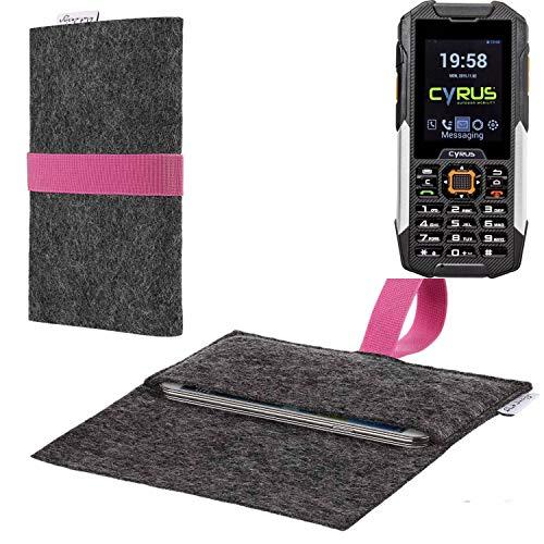 flat.design vegane Handy Hülle Aveiro für Cyrus cm 16 passgenaue Filz Tasche Case Sleeve Made in Germany