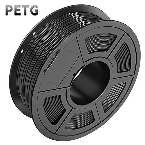 SUNLU PETG Filament 1.75mm with sunlu upgrade 1kg Spool (2.2lbs), Dimensional Accuracy +/- 0.02 mm, Fit Most FDM Printer, Black